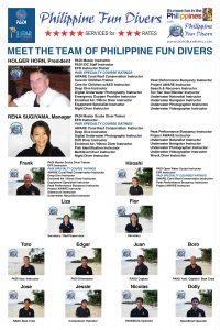 Company Staff Poster Philippine Fun Divers Alona Beach Panglao Bohol Philippines