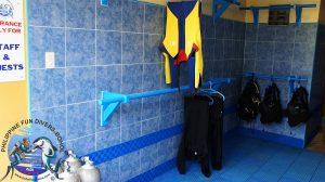 Philippine Fun Divers Alona Beach Panglao Bohol Rinsing & Pre-drying Area 3