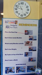 Philippine Fun Divers Alona Beach Panglao Bohol Rinsing & Pre-drying Area 4
