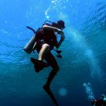 Philippine Fun Divers - Divers Alona Beach Panglao Bohol diver hovering